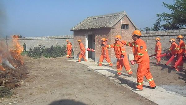 晋城市森林防火联合演习在林业公司举行